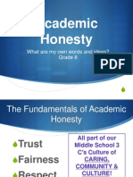academic honesty 8th grade