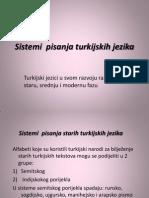 Sistemi Pisanja Turkijskih Jezika