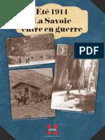 Ete 1914 La Savoie Entre en Guerre