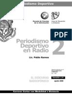 Periodismo Deportivo en Radio - Modulo 2