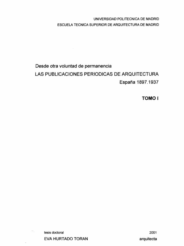 Ediciones Periodicas de Arquitectura