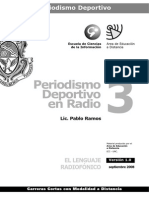 Periodismo Deportivo en Radio - Modulo 3