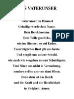 Vaterunser&Nationalhymne