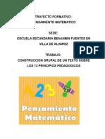 12 Principios Pedagogicos Trabajo Grupal