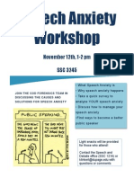 speech anxiety workshop flyer f14