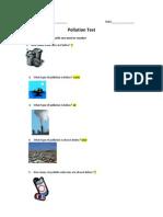 pollution test