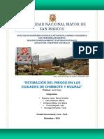 Estimación del riesgo en las ciudades de Chimbote y Huaraz