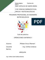 PRACTICAS OPERACIONES UNITARIAS II, I FASE final.doc