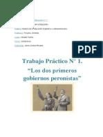 Primer y segundo gobierno peronista