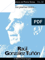 Cuaderno de Poesia Critica n 32 Raul Gonzalez Tunon