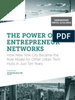 Endeavor Insiaght Partnership for NYC Tech Entrepreneurs
