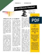 2000 Fall Newsletter