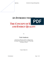 The Concept of Exergy and Energy Quality - Truls Gundersen