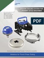 Wilson Tool - catalog scule stantare pentru masini Trumpf Trumatic Si Trupunch - SM