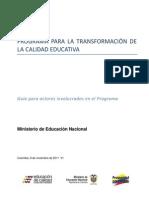Transformación de La Calidad Educativa