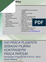 IUD Pasca Plasenta Dr.dr.DRA,SpOG-K