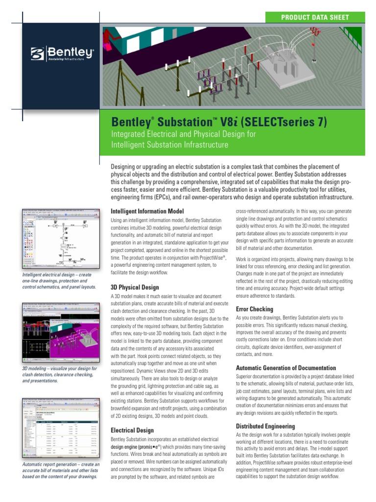 bentley substation product data sheet | windows vista | microsoft windows