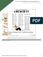 30 Day Ab Challenge Crun...Odybuilding Information
