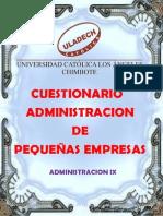 Trabajo Monografico Del Cuestionario Del Foro de Pequeñas Empresas