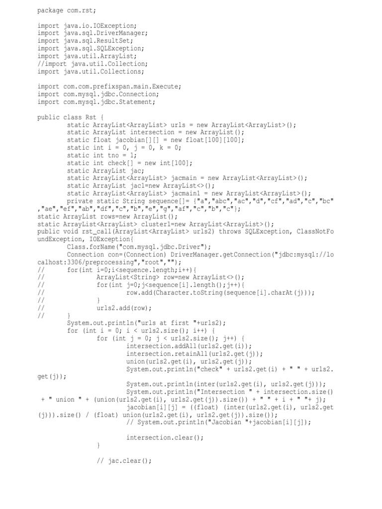 Rst | Information Technology Management | Java Specification