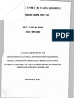 Design of Squirrel Cage Three (3) Phase Squirrel Cage Induction Motor