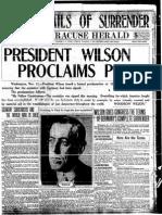 Syracuse Herald Nov. 11, 1918
