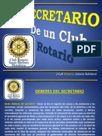 Secretario de Un Club Rotario