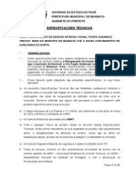 (276106252) Especificação Técnica - Recuperaçao de 20km Da Estrada Vicinal Fogao Queimado