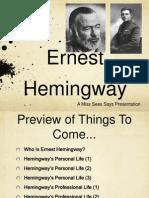 Ernest Hemingway PowerPoint