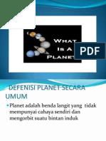 Defenisi Planet