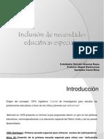 Inclusión de Necesidades Educativas Especiales