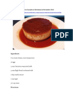 Flan de Queso Recipe From Tres Carnales at Christmas in November 2014