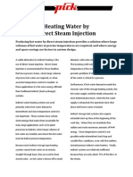 Heating Water by Direct Steam Injection