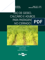 Uso de Gesso, Calcário e Adubos Para Pastagens No Cerrado (1)