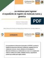 Requisitos Minimos Registros Medicamentos Genericos en Mexico