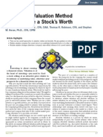 AAII Valuation Method to Determine a Stocks Worth