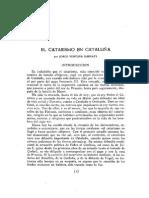EL CATARISMO EN CATALUNA