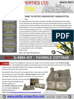 Petite Properties' Newsletter March 2013