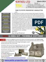 Petite Properties Newsletter March 2013