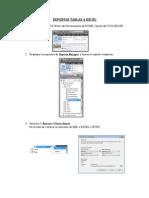 Exportar Tablas a Excel