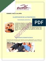 Clasificación de La Fisioterapia