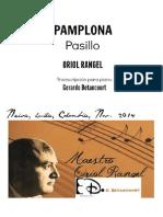 PAMPLONA. Pasillo. Oriol Rangel. Transc. Gerardo Betancourt.