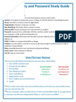 internet safety and password study guide