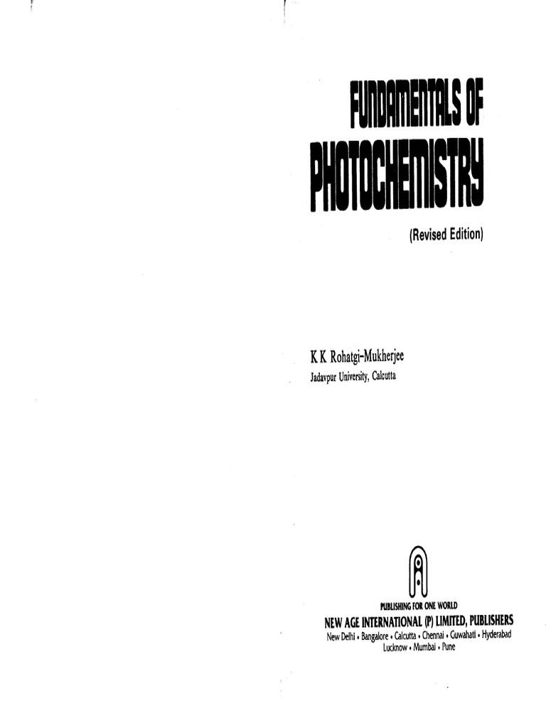 fundamentals of photochemistry
