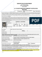 Juan E Contreras Sexually Violent Predator Notification