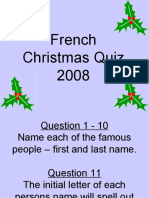 Christmas Quiz French