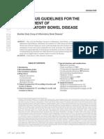 Concenso brasileiro de Doença inflamatoria intestinal