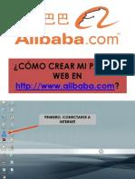 Como Crear Una Pagina Web en Alibaba