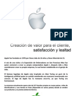 Valor Para El Cliente. Apple