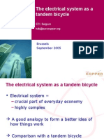 The electricity system as a tandem bicycle